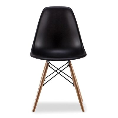 Replica Eames DSW Side Chair, Black