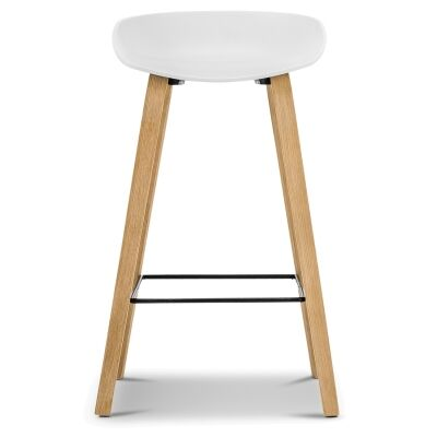 Replica Hay Counter Stool, White / Natural