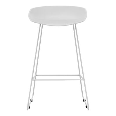 Replica Hay Sled Counter Stool, Set of 2, White