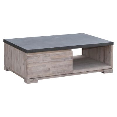 Pesaro Concrete Top Acacia Timber Cofffee Table, 120cm