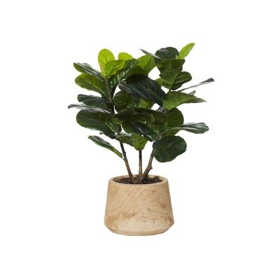 Dansk Potted Artificial Fiddle Leaf Fig Tree, 91cm