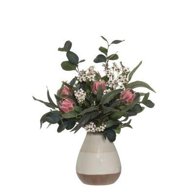 Artificial Protea Mix in Kaholo Ceramic Vase, Small