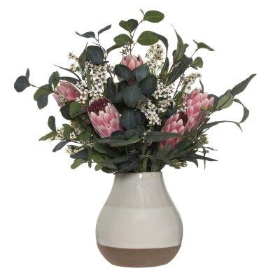 Artificial Protea Mix in Kaholo Ceramic Vase, Large