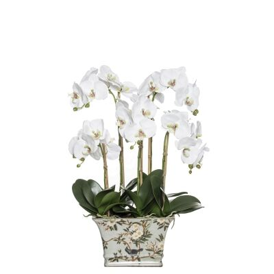 Deluxe Artificial Phalaenopsis Orchid in Delilah Pot, Small