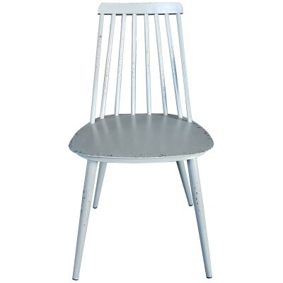 Set of 2 Forster Commercial Grade Aluminium Indoor / Outdoor Dining Chairs, Rustic Grey