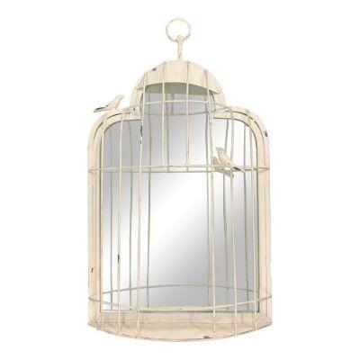 Kyathos Metal Birdcage Wall Mirror, 60cm