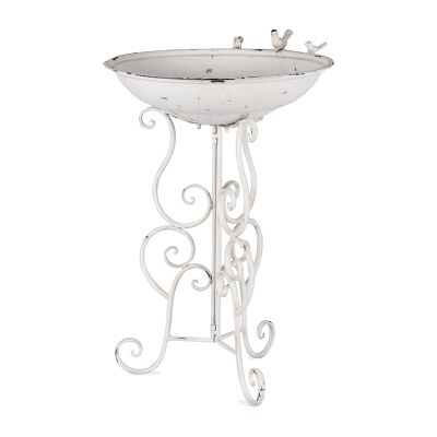 Livorno Metal Bird Bath