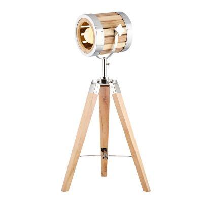 Georgia Timber Tripod Spotlight Table Lamp
