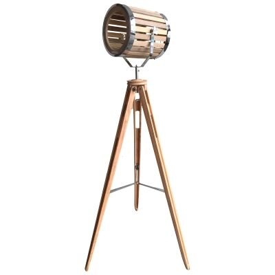 Georgia Timber Tripod Spotlight Floor Lamp