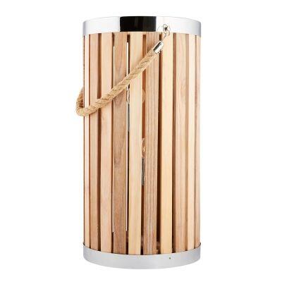 Georgia Timber Floor Lantern, Large