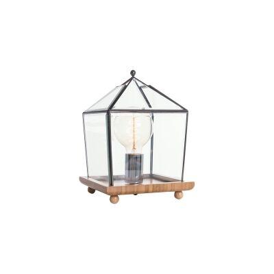 Buckton Metal & Glass Table Lamp, Square, Black
