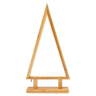 Bilto Bamboo LED Table Lamp, Small Cone Tree, Grey Wash