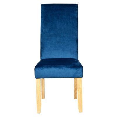 Winsor Velvet Fabric Dining Chair, Dark Blue
