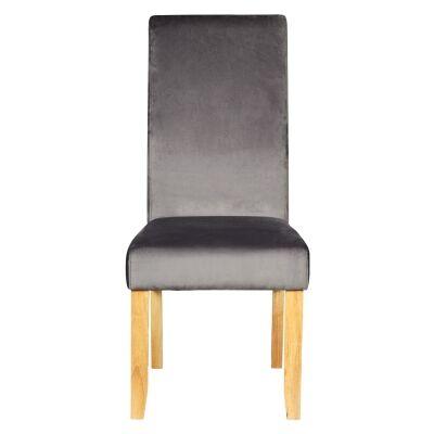 Winsor Velvet Fabric Dining Chair, Grey