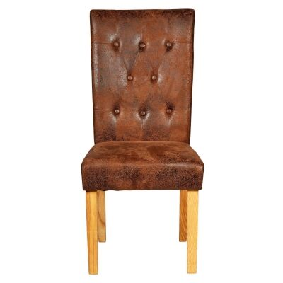 Spartan Suede Fabric Dining Chair