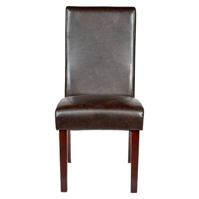 Eva Recycled Leather Dining Chair