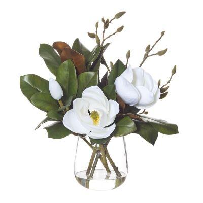 Artificial Magnolia Flower in Greta Vase-I