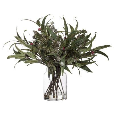 Artficial Native Foliage Mix in Pail Vase