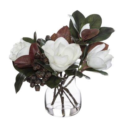 Artificial Magnolia & Gumnut Mix in Adina Vas