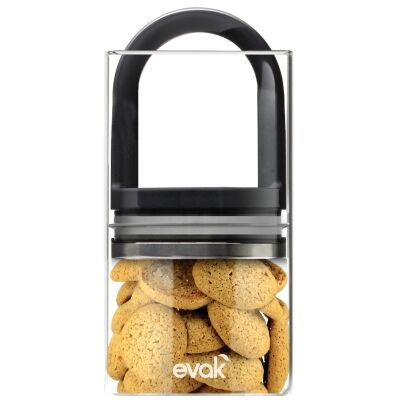 Prepara EVAK Medium Glass Food Storage Container - Gloss Black