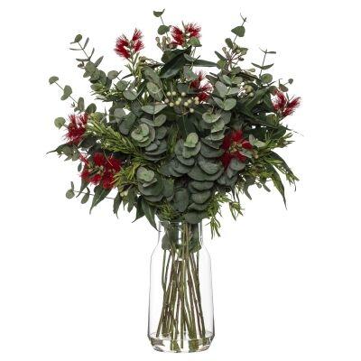 Artificial Australiana Mix in Audrey Vase, Red Flower