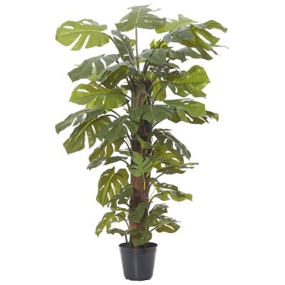Potted Artificial Monsteria Totem Plant, 122cm