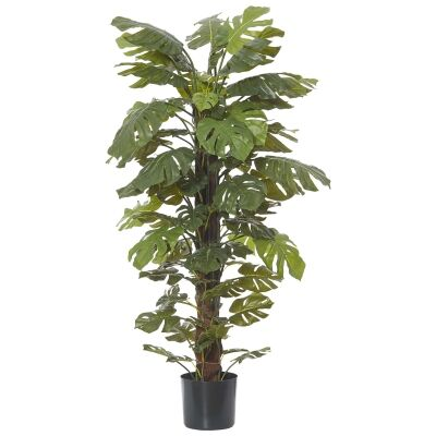 Potted Artificial Monsteria Totem Plant, 152cm