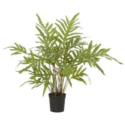 Potted Artificial Rabbit Foot Fern, 86cm