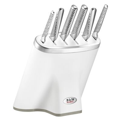 Global Zeitaku Shiro 7 Piece Knife Block Set