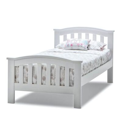 Leah Wooden Single Bed - White