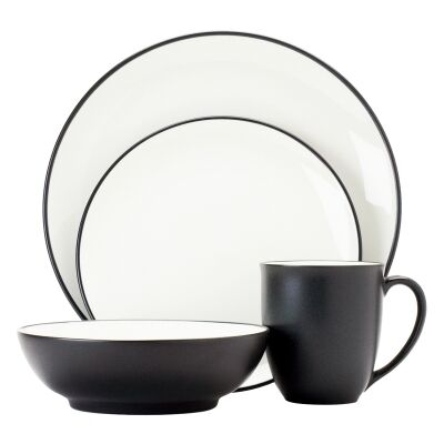 Noritake Colorwave Graphite 16 Piece Stoneware Dinner Set
