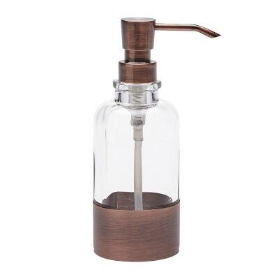 Aquanova Mavis Copper & Glass Soap Dispenser