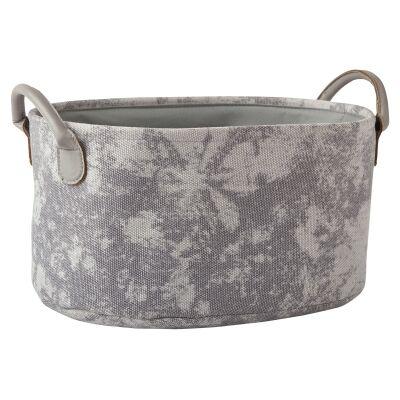 Aquanova Olav Fabric Storage Basket, Light Grey