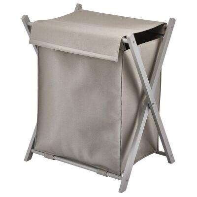 Aquanova Loft Fabric Laundry Bin, 89 Litre, Clay