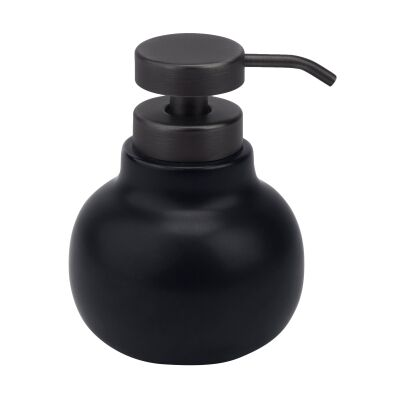Aquanova Uma Ceramic Soap Dispenser, Black