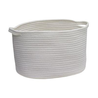 Aquanova Rena Cotton Storage Basket, Medium, Ivory