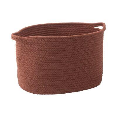 Aquanova Rena Cotton Storage Basket, Medium, Sienna