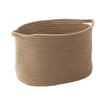 Aquanova Rena Cotton Storage Basket, Medium, Ochre