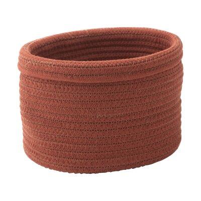 Aquanova Rena Cotton Storage Basket, Small, Sienna
