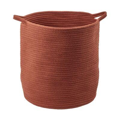 Aquanova Rena Cotton Storage Basket, Large, Sienna