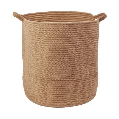Aquanova Rena Cotton Storage Basket, Large, Ochre