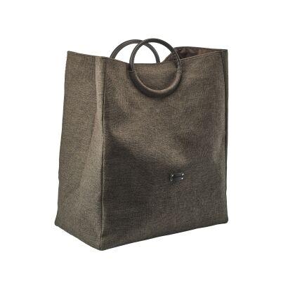 Aquanova Jada Fabric Laundry Basket, Brown