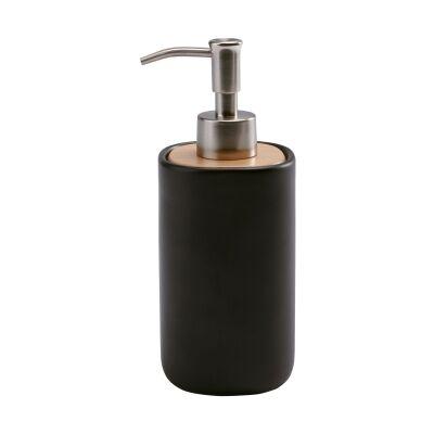Aquanova Oscar Ceramic Soap Dispenser, Black