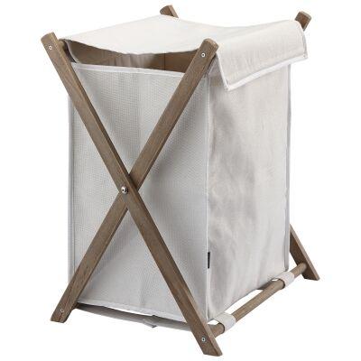 Aquanova Dali Fabric Laundry Bin, 103 Litre, Ivory