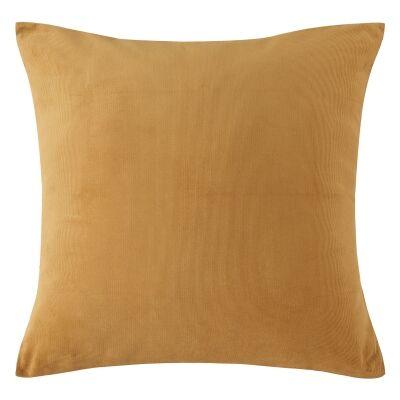 Vintage Design Homeware Cotton Corduroy European Pillowcase, Gold Harmony