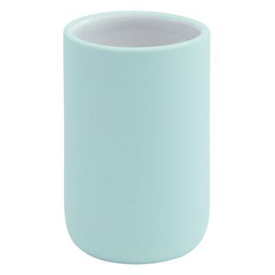 Aquanova Cleo Ceramic Toothbrush Holder, Mint