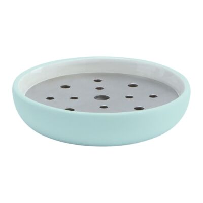 Aquanova Cleo Ceramic Soap Dish, Mint