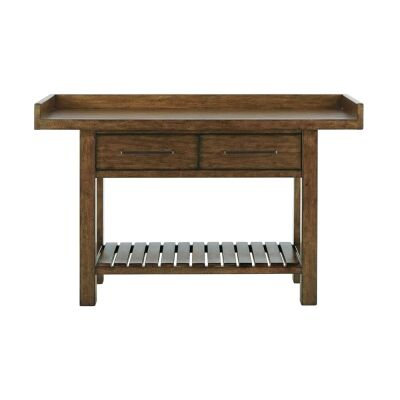 Weiterswiller Oak Timber Console Table with Shelf, 157cm