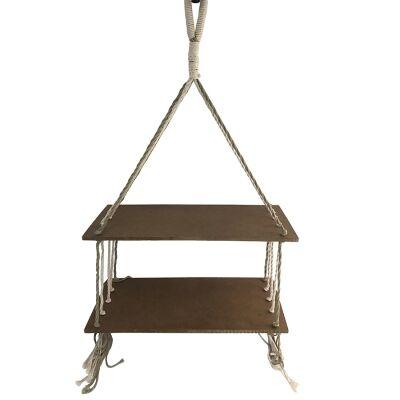 Oissy Hanging Shelf, Brown