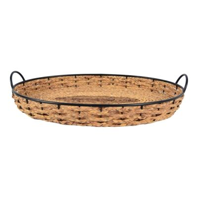 Cellere Seagrass & Metal Oval Tray